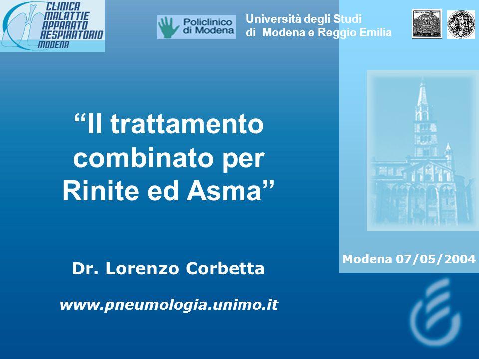 Il trattamento combinato per Rinite ed Asma Dr.