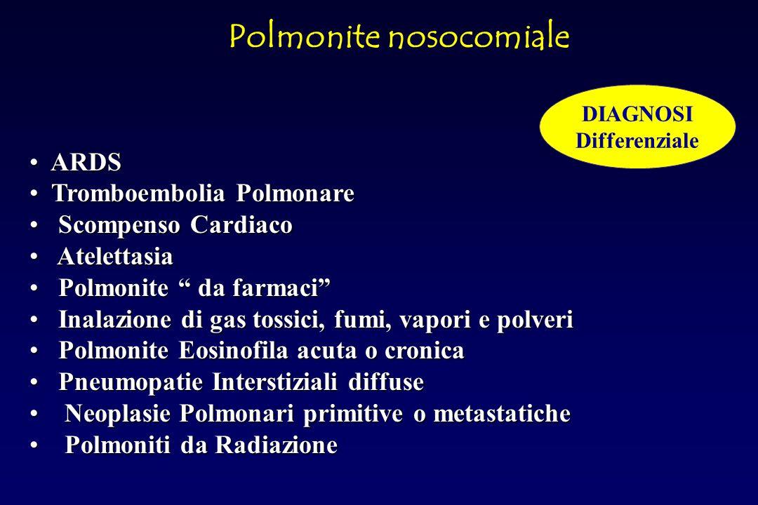 Paziente con Polmonite nosocomiale Valutare gravità Media Moderata Grave Polmonite nosocomiale TERAPIA