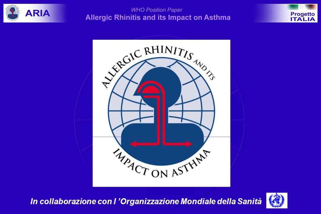 Rinite perenne: fattore indipendente di rischio per lasma Leynaert et al, J Allergy Clin Immunol 1999 0 5 10 15 20 25 % pazienti asmatici atopicinon-atopici controlli rinite