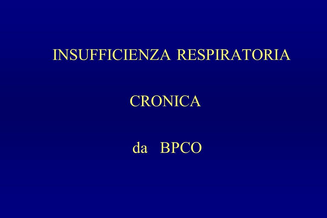 INSUFFICIENZA RESPIRATORIA CRONICA da BPCO
