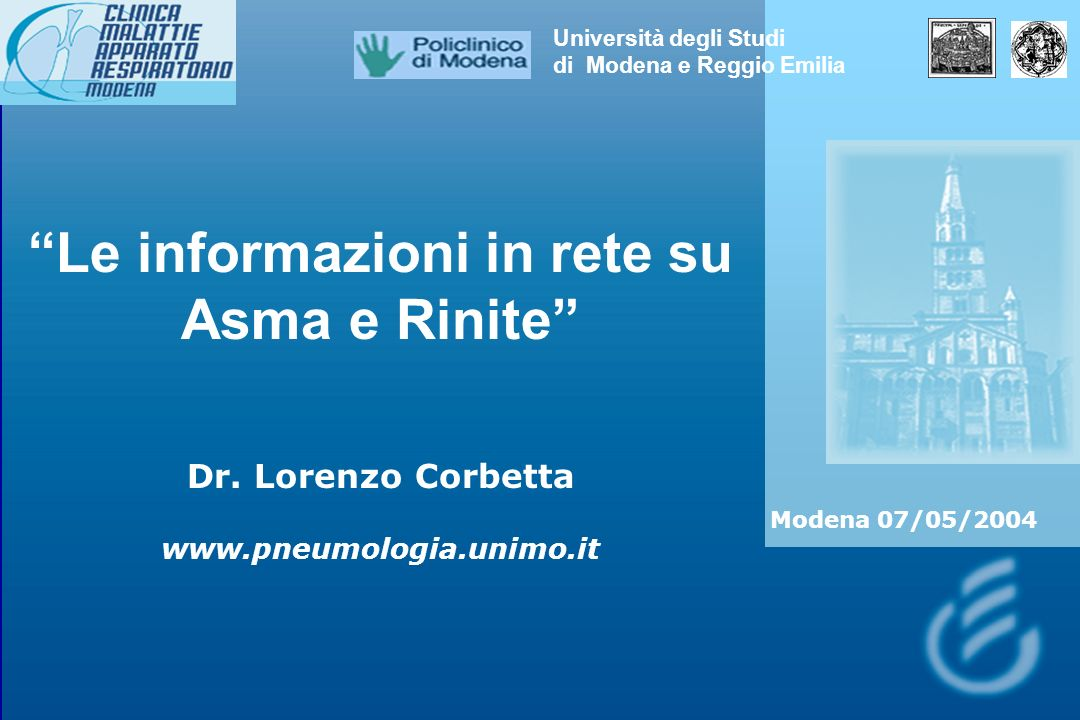 Le informazioni in rete su Asma e Rinite Dr.