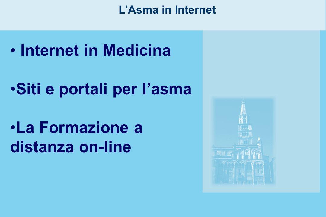 LAsma in Internet Internet in Medicina Siti e portali per lasma La Formazione a distanza on-line