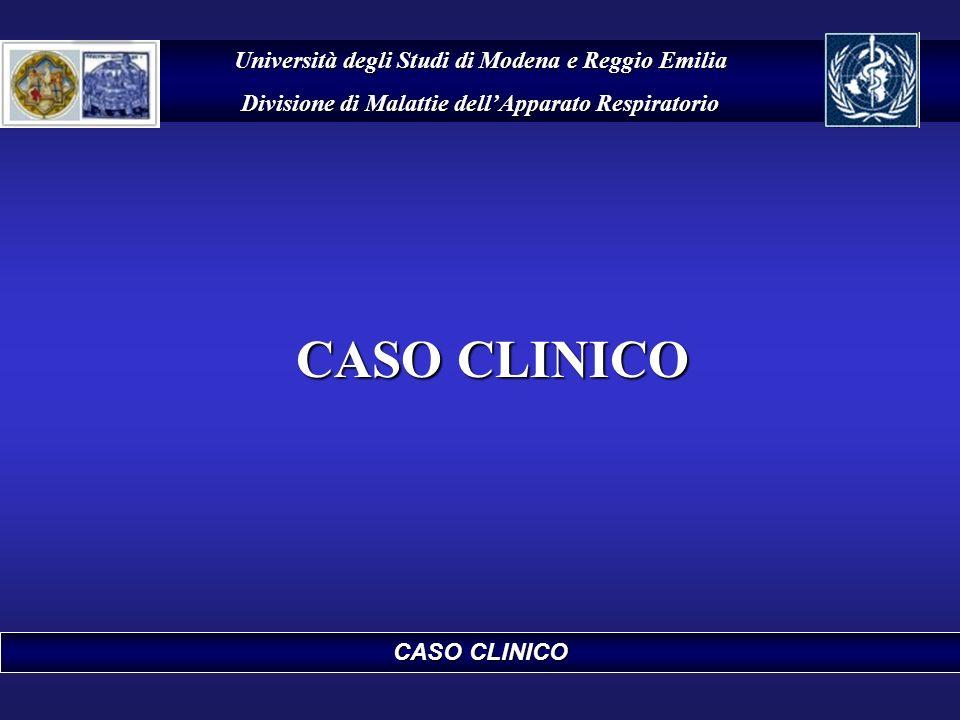 CASO CLINICO Università degli Studi di Modena e Reggio Emilia Divisione di Malattie dellApparato Respiratorio CASO CLINICO