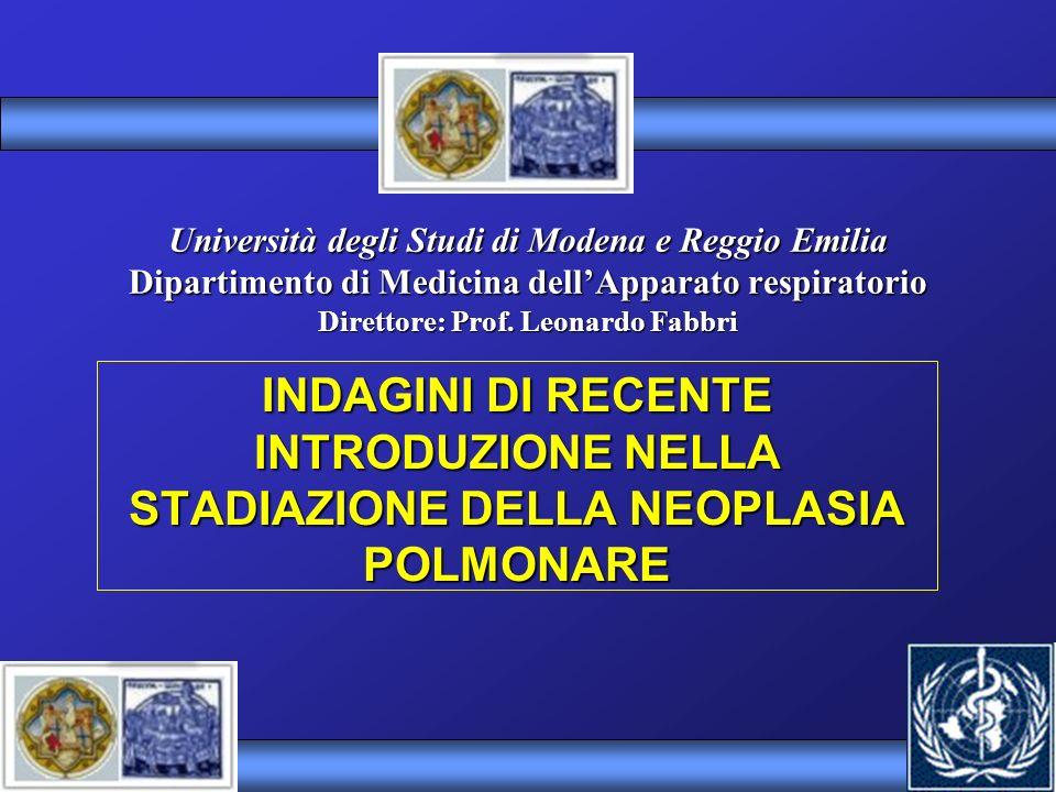 Università degli Studi di Modena e Reggio Emilia Dipartimento di Medicina dellApparato respiratorio Direttore: Prof. Leonardo Fabbri INDAGINI DI RECEN