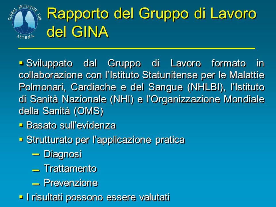Rapporto del Gruppo di Lavoro del GINA Sviluppato dal Gruppo di Lavoro formato in collaborazione con lIstituto Statunitense per le Malattie Polmonari,