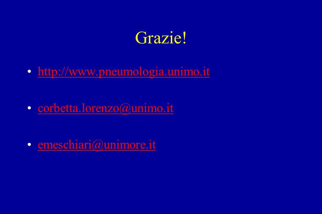 Grazie! http://www.pneumologia.unimo.it corbetta.lorenzo@unimo.it emeschiari@unimore.it