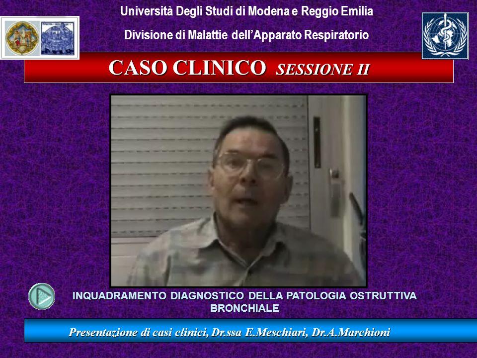 CASO CLINICO SESSIONE II Presentazione di casi clinici, Dr.ssa E.Meschiari, Dr.A.Marchioni Università Degli Studi di Modena e Reggio Emilia Divisione