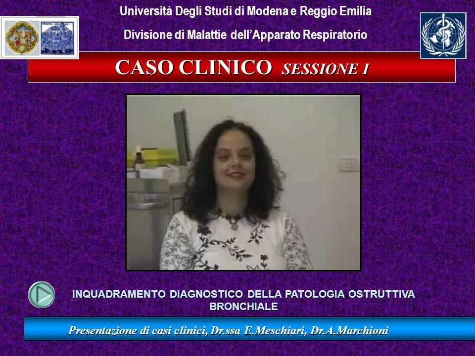 Presentazione di casi clinici, Dr.ssa E.Meschiari, Dr.A.Marchioni Il paziente manifesta attacchi singoli o ricorrenti di respiro sibilante.