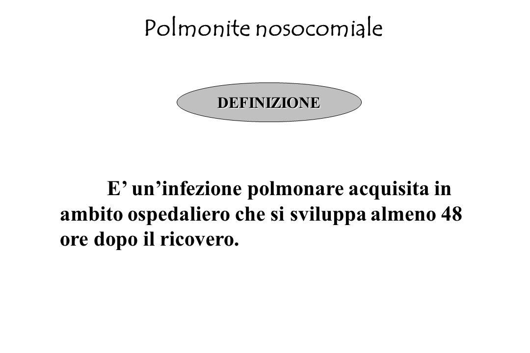 Polmonite extraospedaliera INDICAZIONI ASSOLUTE Shock Leucopenia PaO 2 < 55 mmHg Acidosi respiratoria Malattia concomitante Dubbio diagnostico (è vera