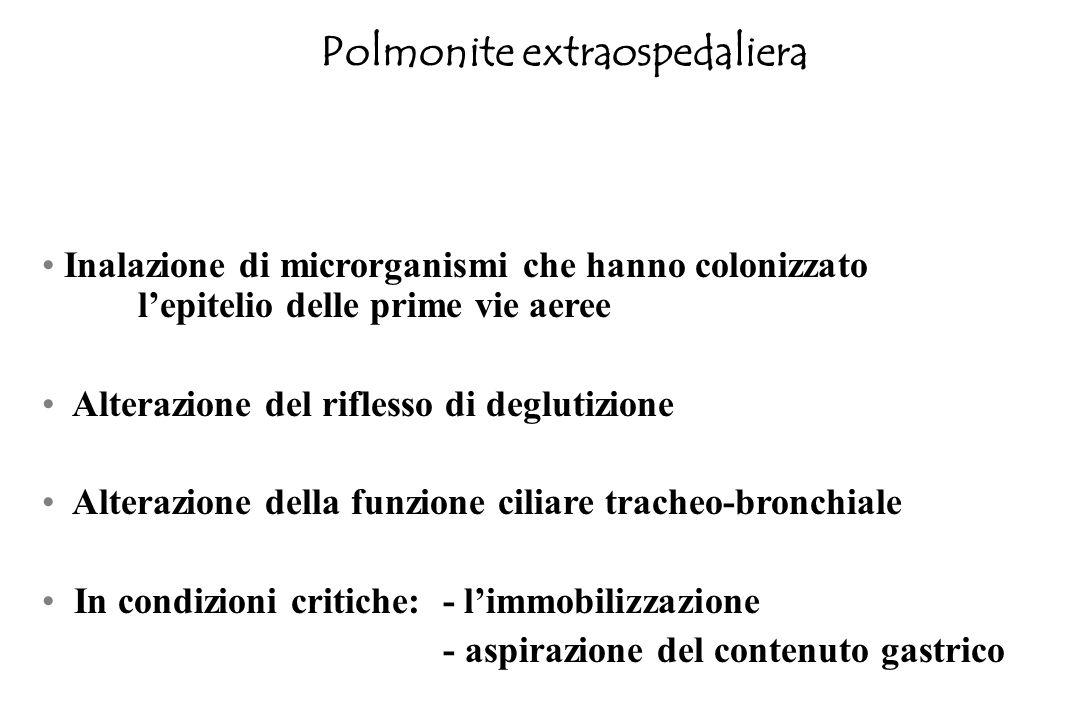 USA: 5 milioni di morti/anno 1° causa infettiva di morte 6° causa di morte ITALIA: epidemiologia simile a quella negli USA 13 morti per 100.000 abitan