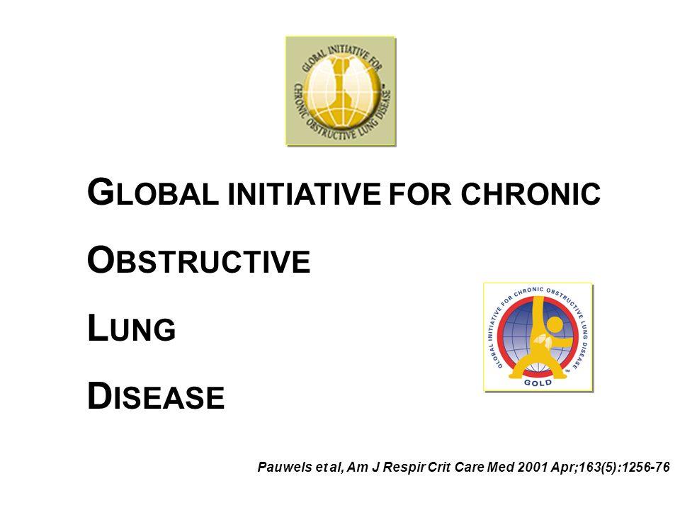 G LOBAL INITIATIVE FOR CHRONIC O BSTRUCTIVE L UNG D ISEASE Pauwels et al, Am J Respir Crit Care Med 2001 Apr;163(5):1256-76