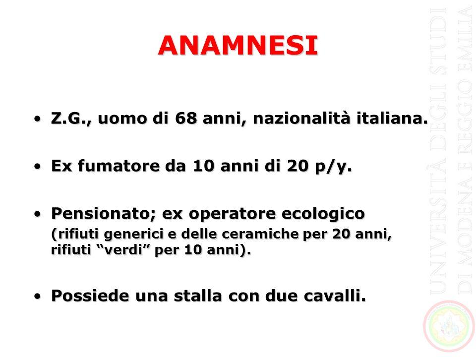 ANAMNESI Anamnesi familiare:Anamnesi familiare: –Una sorella affetta da LES.