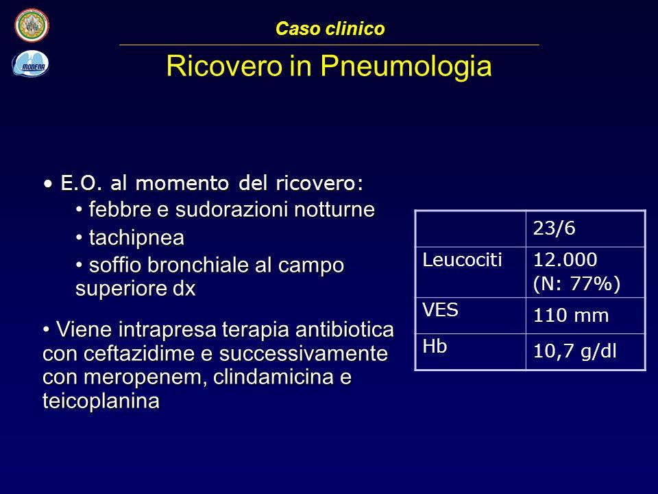 Radiografia del torace (23/6) Caso clinico