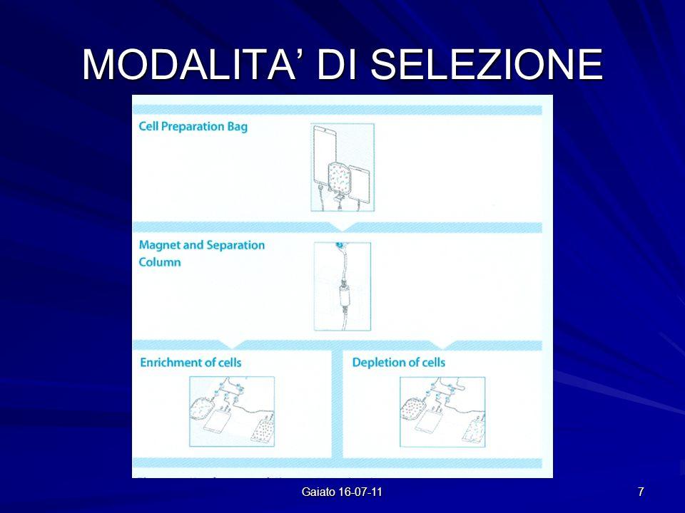 MODALITA DI SELEZIONE 7 Gaiato 16-07-11