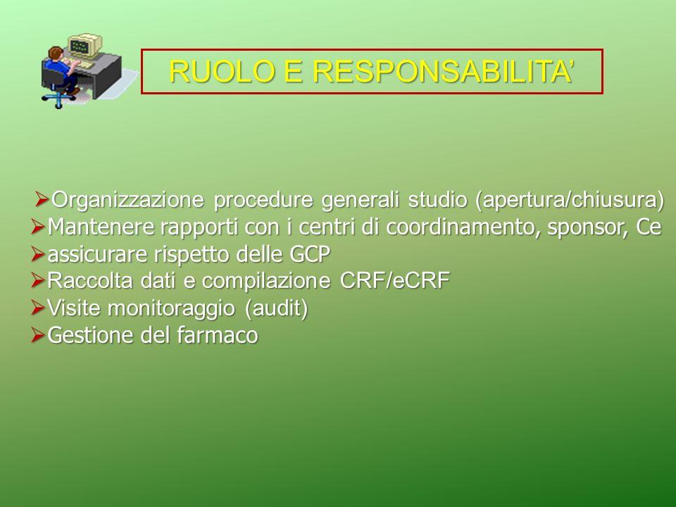 Organizzazione procedure generali studio (apertura/chiusura) Organizzazione procedure generali studio (apertura/chiusura) Mantenere rapporti con i cen