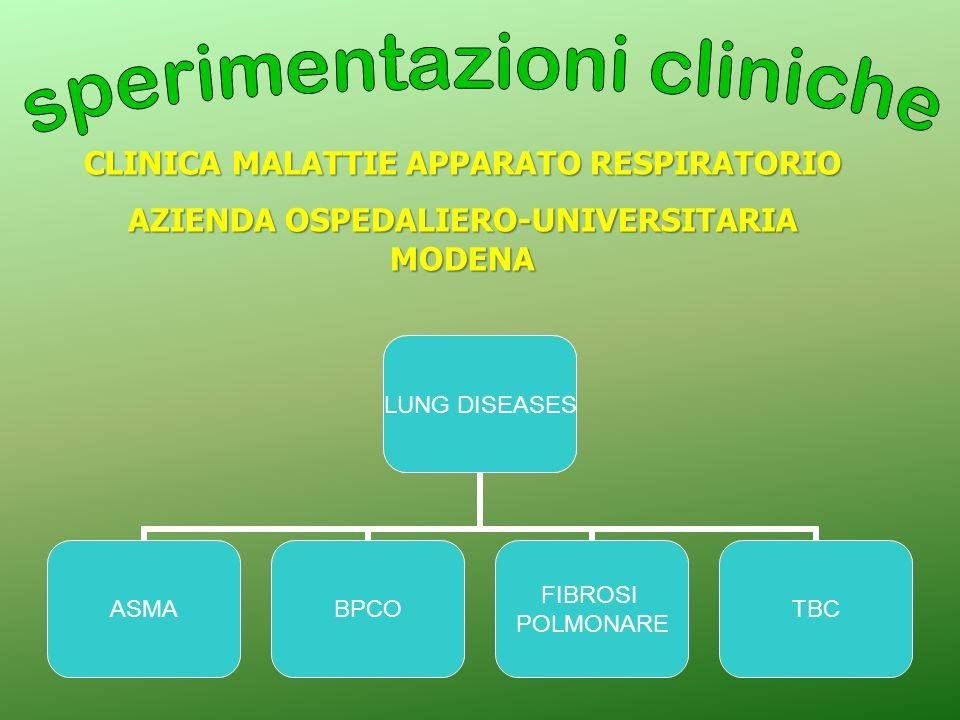 LUNG DISEASES ASMABPCO FIBROSI POLMONARE TBC CLINICA MALATTIE APPARATO RESPIRATORIO AZIENDA OSPEDALIERO-UNIVERSITARIA MODENA