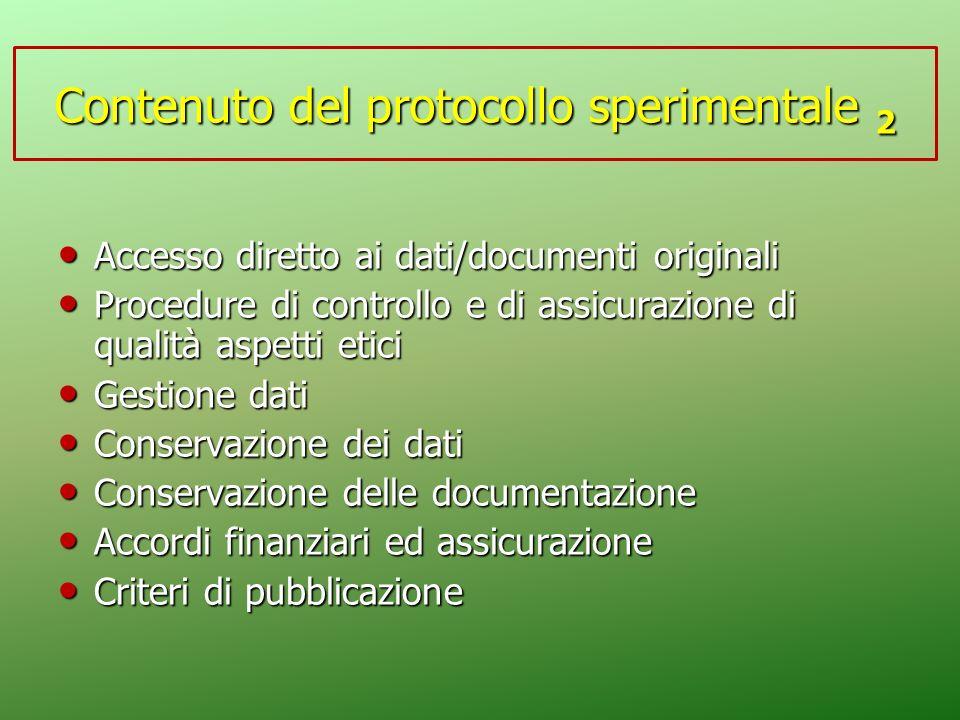 Accesso diretto ai dati/documenti originali Accesso diretto ai dati/documenti originali Procedure di controllo e di assicurazione di qualità aspetti e