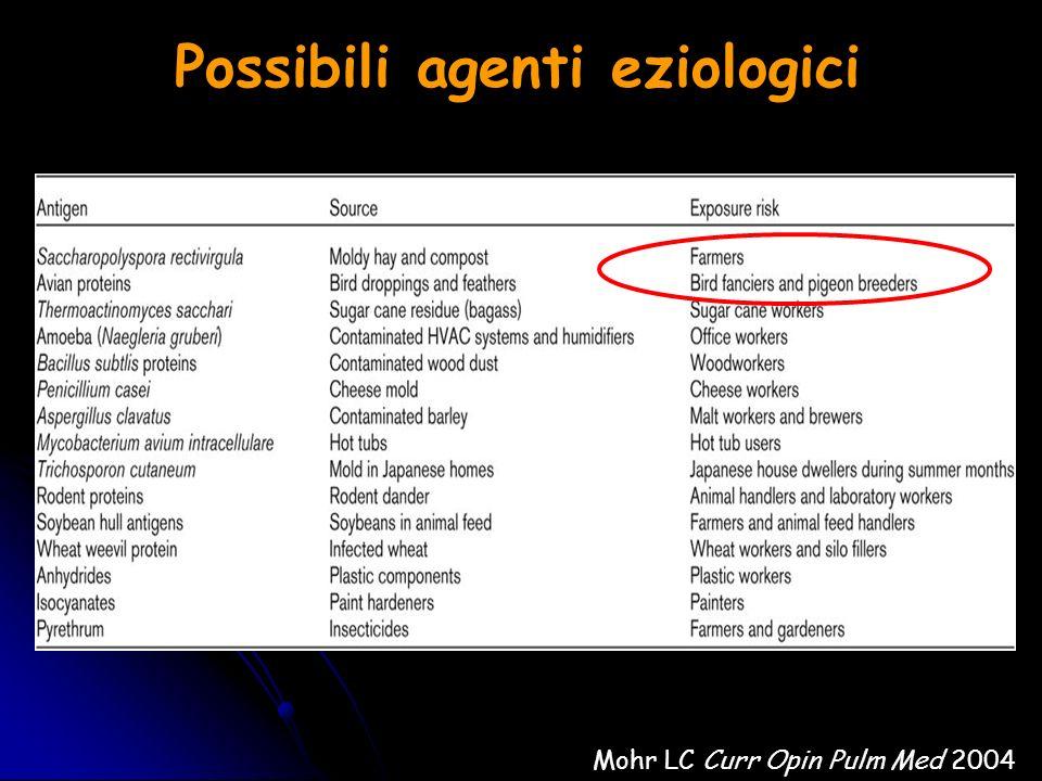 Mohr LC Curr Opin Pulm Med 2004 Possibili agenti eziologici