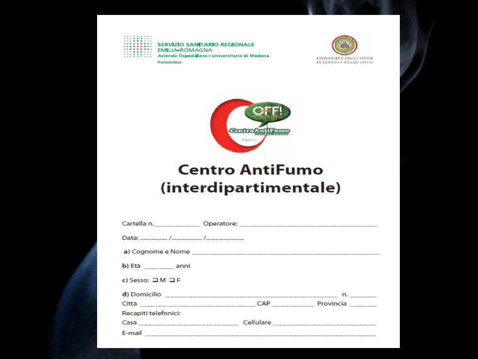 CONCLUSIONI 1.Il Centro Antifumo dovrebbe essere una parte integrante della U.O di Pneumologia.