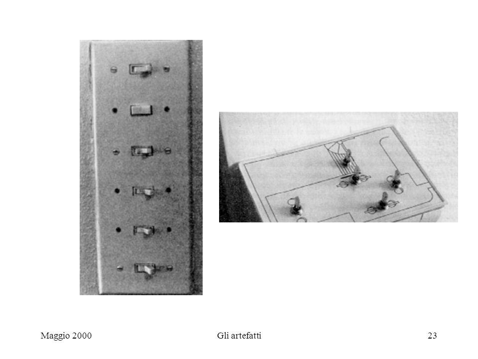 Maggio 2000Gli artefatti23