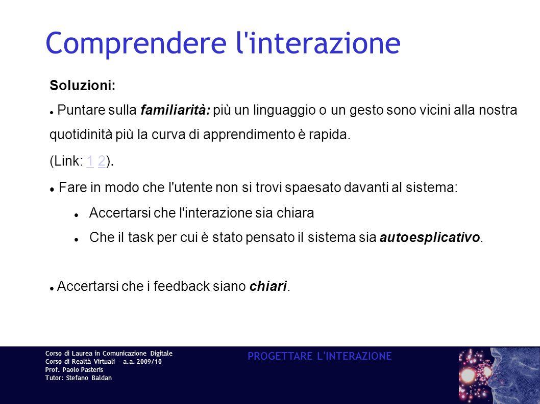 Corso di Laurea in Comunicazione Digitale Corso di Realtà Virtuali - a.a.