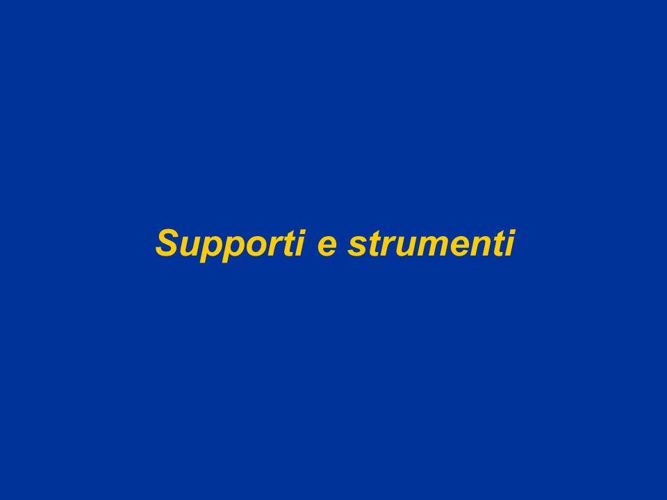 Supporti e strumenti