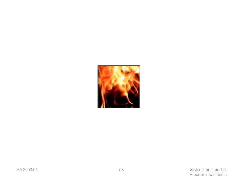AA 2003/04Sistemi multimediali Produrre multimedia 58