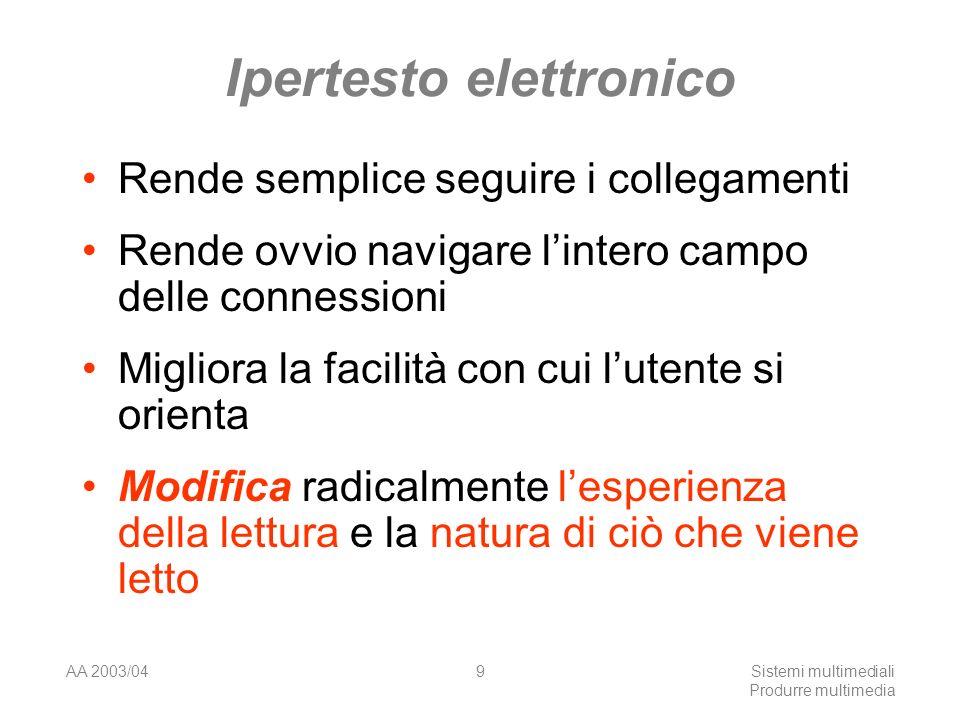 AA 2003/04Sistemi multimediali Produrre multimedia 60 Rappresentazioni sinestesiche Rare sono le traduzioni estetiche dal colore.