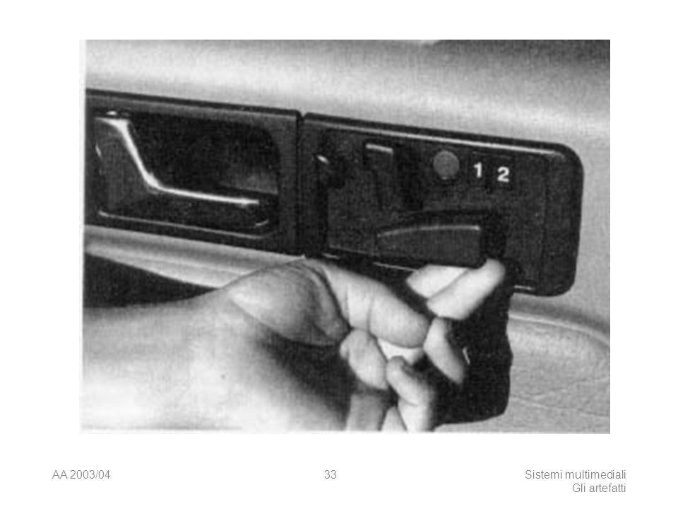 AA 2003/04Sistemi multimediali Gli artefatti 33