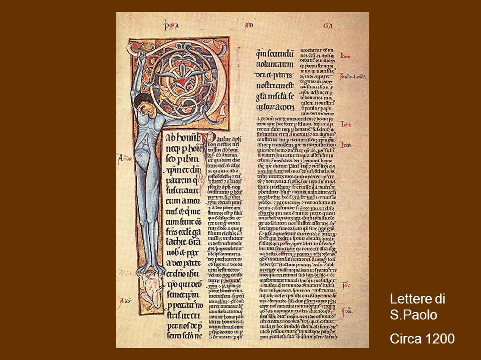 Sistemi multimediali M.A. Alberti Produrre multimedia35 Lettere di S.Paolo Circa 1200