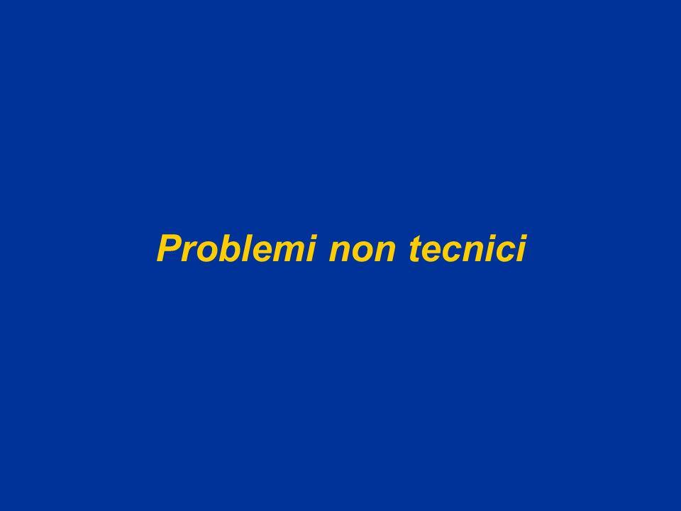Problemi non tecnici