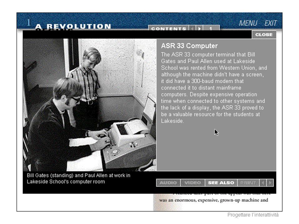 AA 2003/04Sistemi multimediali Progettare linterattività 11