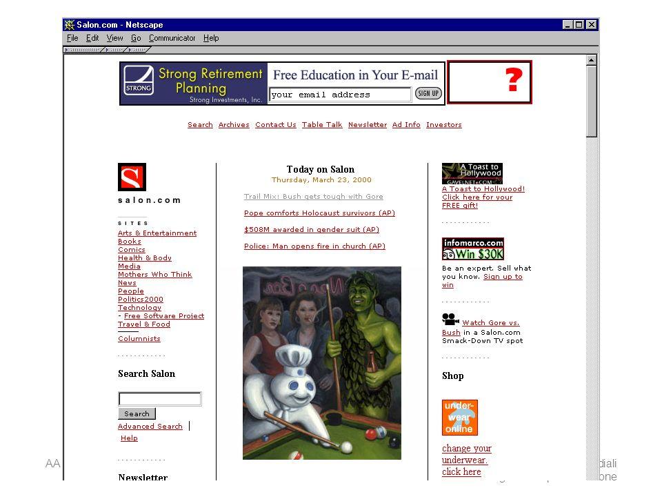 AA 2004/05Sistemi multimediali Disegno della presentazione 45