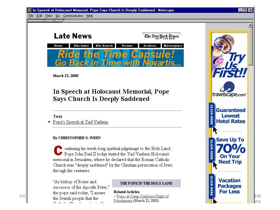 AA 2004/05Sistemi multimediali Disegno della presentazione 47
