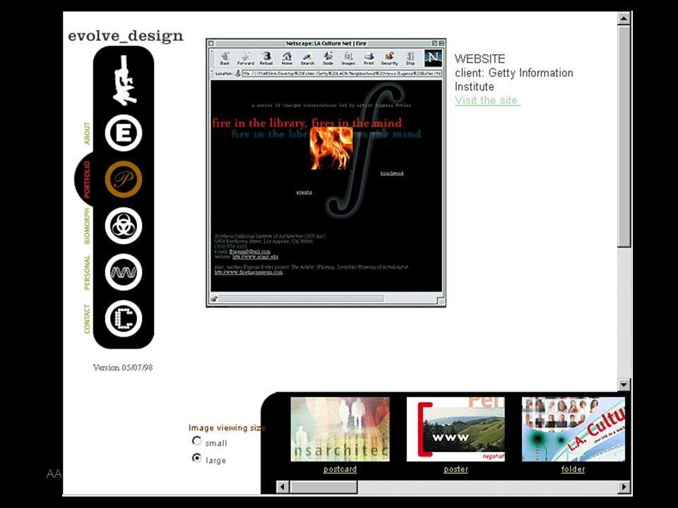 AA 2004/05Sistemi multimediali Disegno della presentazione 60