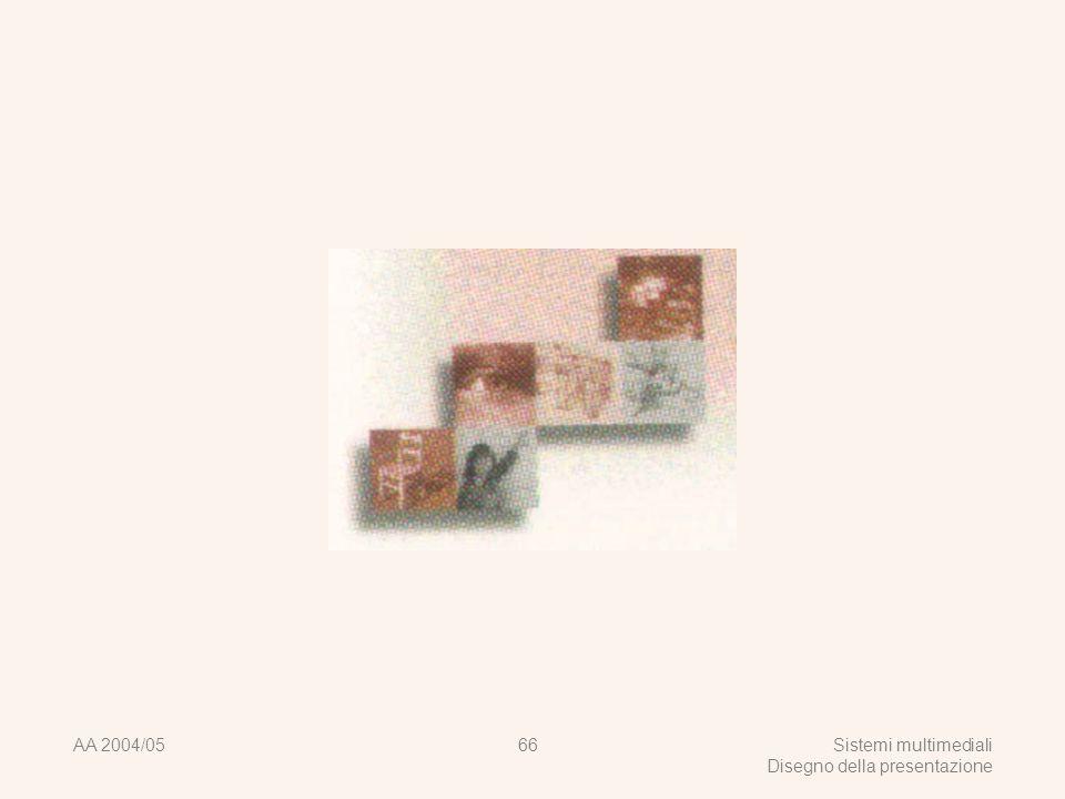 AA 2004/05Sistemi multimediali Disegno della presentazione 65