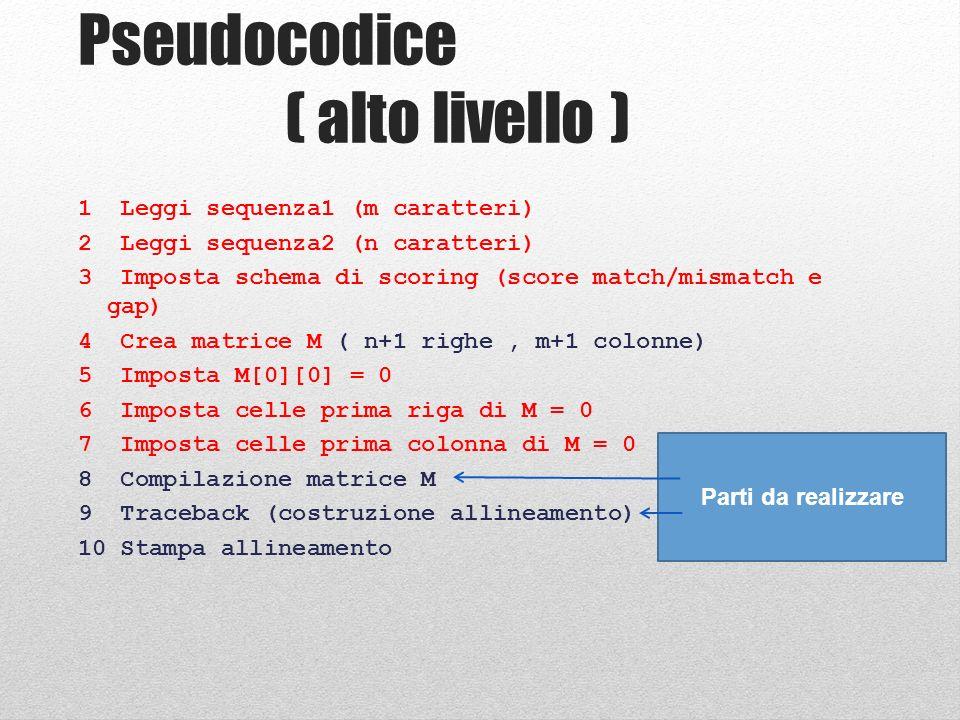 Step 8: Compilazione Matrice if($diagonal_score <= 0 and $up_score <= 0 and $left_score <= 0){ $matrix[$i][$j]{score} = 0; $matrix[$i][$j]{pointer} = *; next; } diag_score <= 0 E up_score <= 0 E left_score <= 0 TRUE FALSE SE IL PROGRAMMA ARRIVA QUI VUOL DIRE CHE ALMENO UNA DELLE TRE VARIABILI è > 0 .