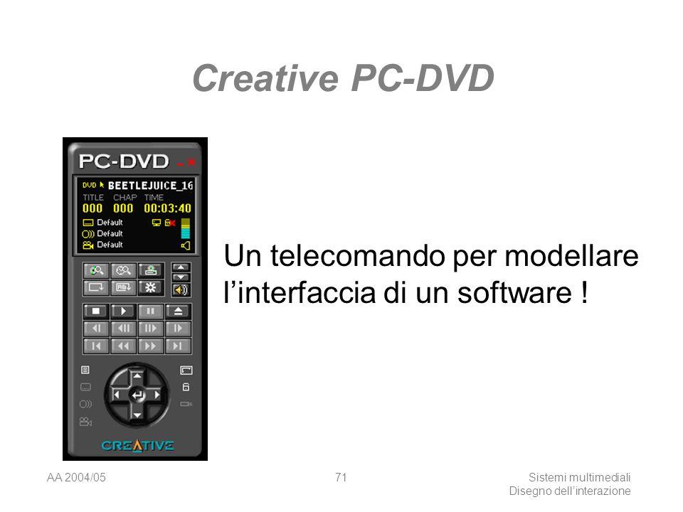 AA 2004/05Sistemi multimediali Disegno dellinterazione 70 RealPhone della IBM