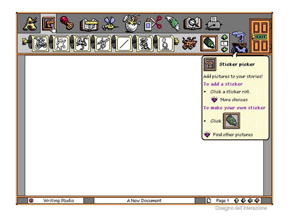 AA 2004/05Sistemi multimediali Disegno dellinterazione 83