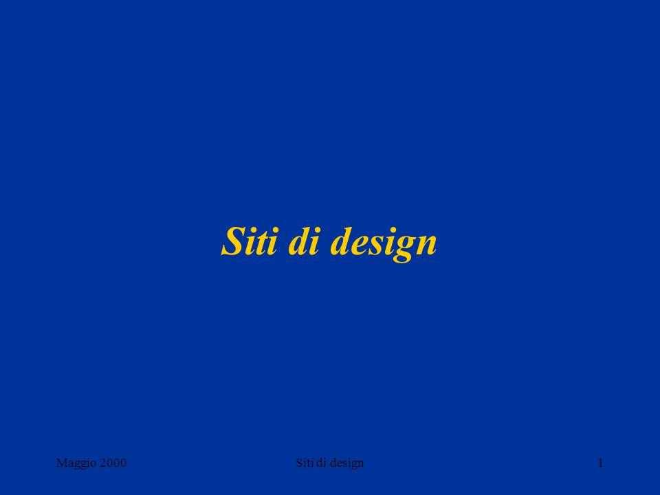 Maggio 2000Siti di design1