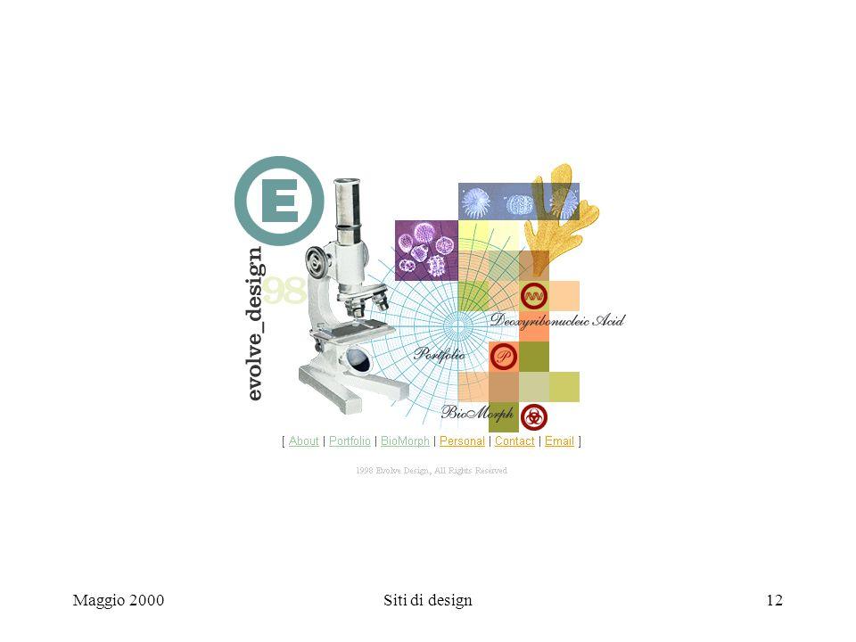 Maggio 2000Siti di design12