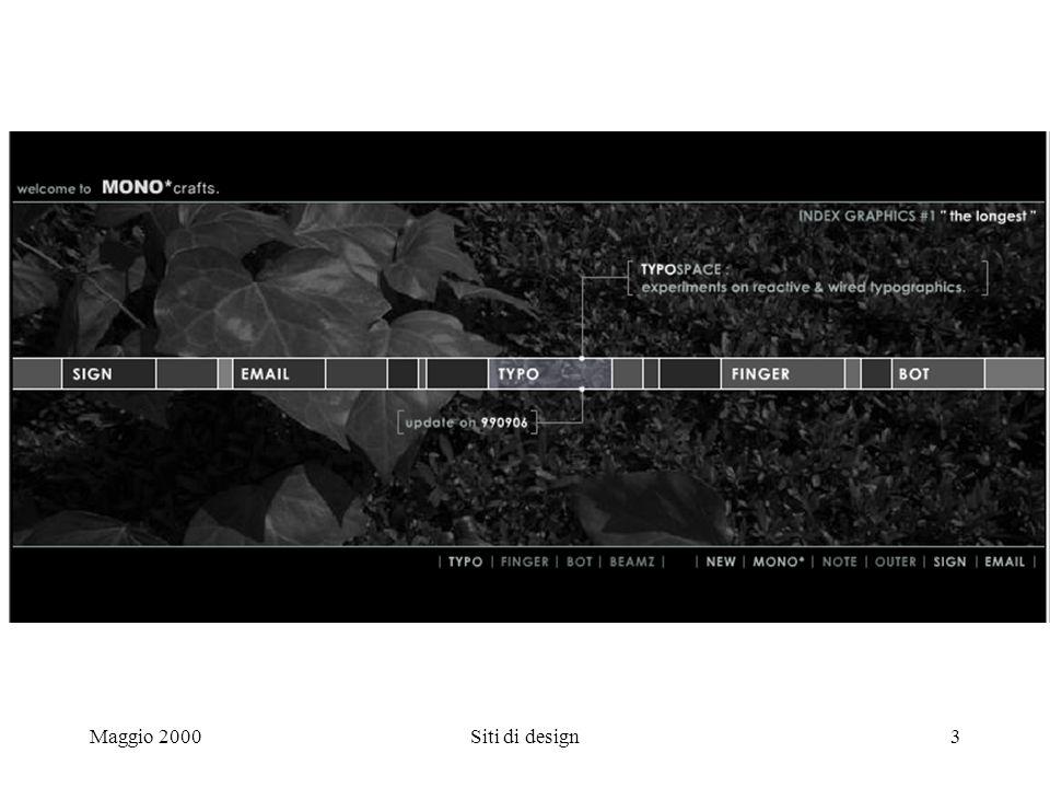 Maggio 2000Siti di design3