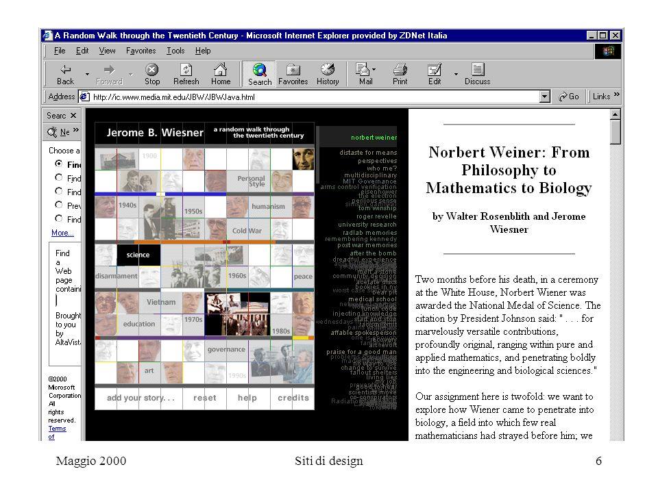 Maggio 2000Siti di design6