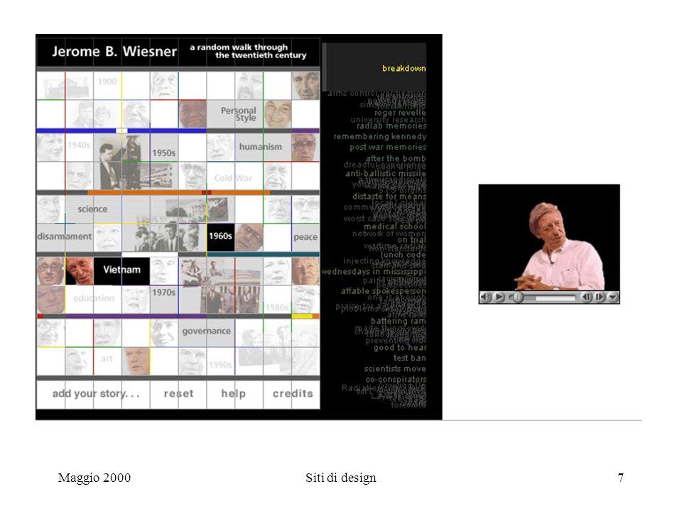 Maggio 2000Siti di design7