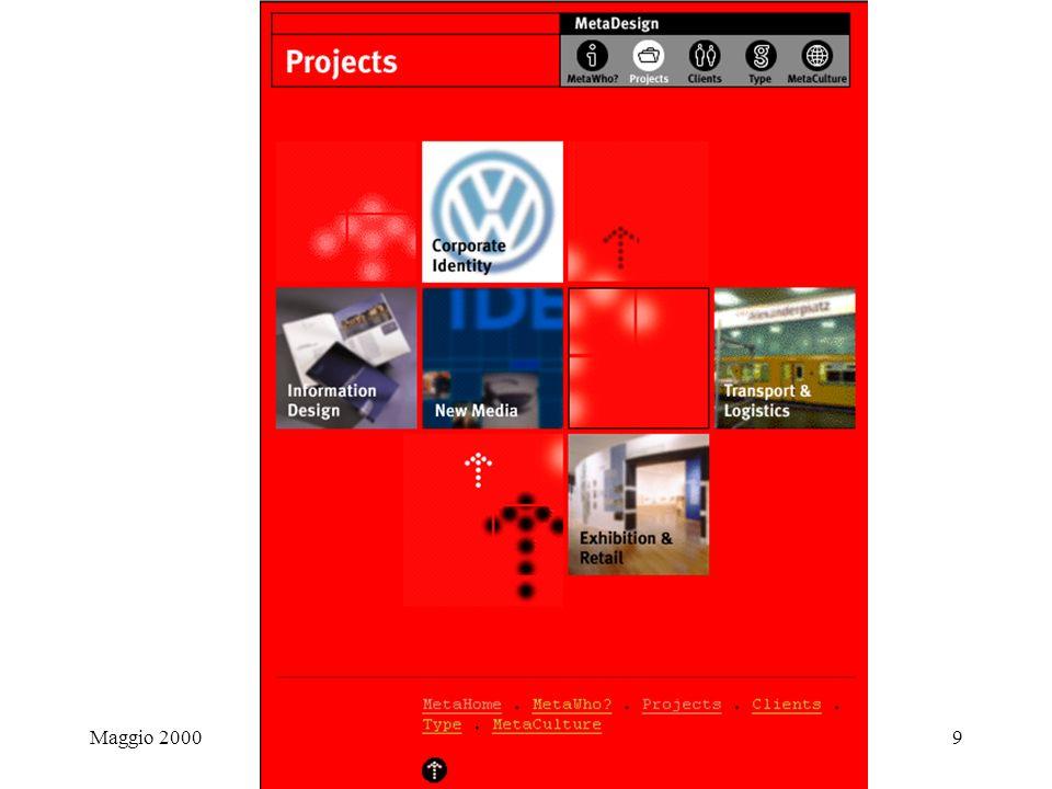 Maggio 2000Siti di design9