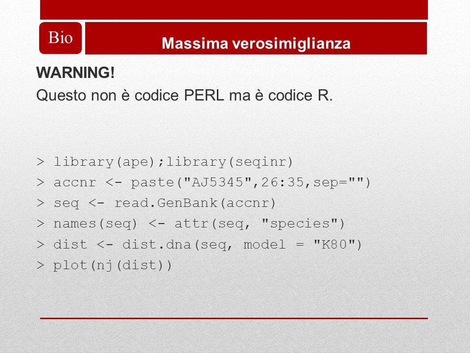 WARNING. Questo non è codice PERL ma è codice R.