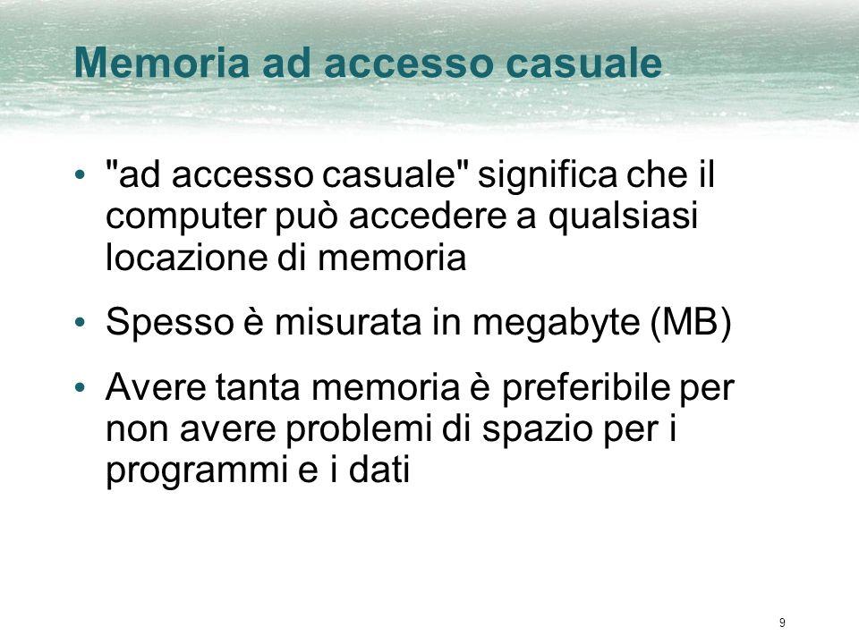 9 Memoria ad accesso casuale