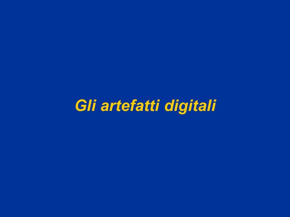 Sistemi multimediali M.A.Alberti Gli artefatti digitali52 6.