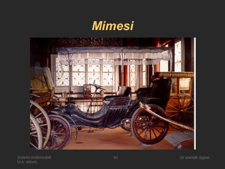 Sistemi multimediali M.A. Alberti Gli artefatti digitali65 Mimesi