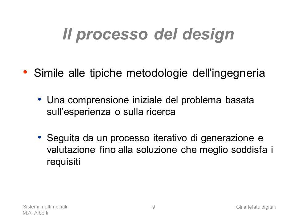 Sistemi multimediali M.A. Alberti Gli artefatti digitali20 www.unisource.it